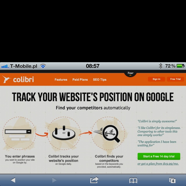 Colibritool.com will find your online competitors and track your website's position on search engines.