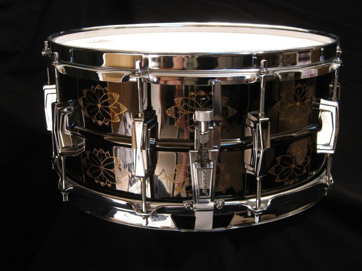 1991 LIMITED EDITION ENGRAVED LB 417 LUDWIG BLACK BEAUTY SNARE DRUM 6.5x14 RARE  #Ludwig