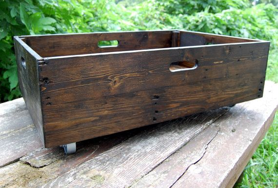 Under Bed Storage Rolling Crate/ Reclaimed by LooneyBinTradingCo