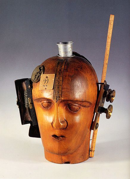 Raoul Hausmann: A photo of his sculpture 'Mechanical Head', a key work.