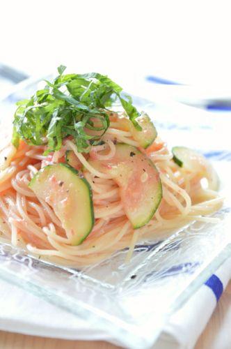 375 ズッキーニと梅トマトソースの冷製パスタ by みちこさん | レシピ ...