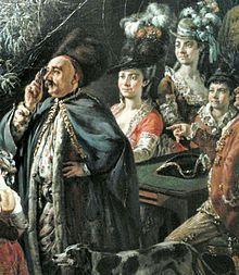 Bernardo Bellotto -: Detail of Election of Stanislaus Augustus with a study of figures. - Bernardo Bellotto fait d'intéressantes vues de Dresde et exécute un grand nombre de gravures. Il passe les dernières années de sa vie près du roi Stanislas à Varsovie et laisse de la capitale polonaise de nombreux paysages de facture habile mais assez sèche. Des 2 artistes, il est certain qu'Antonio Canal eut un génie créateur et que son élève se contenta de l'imiter avec talent.