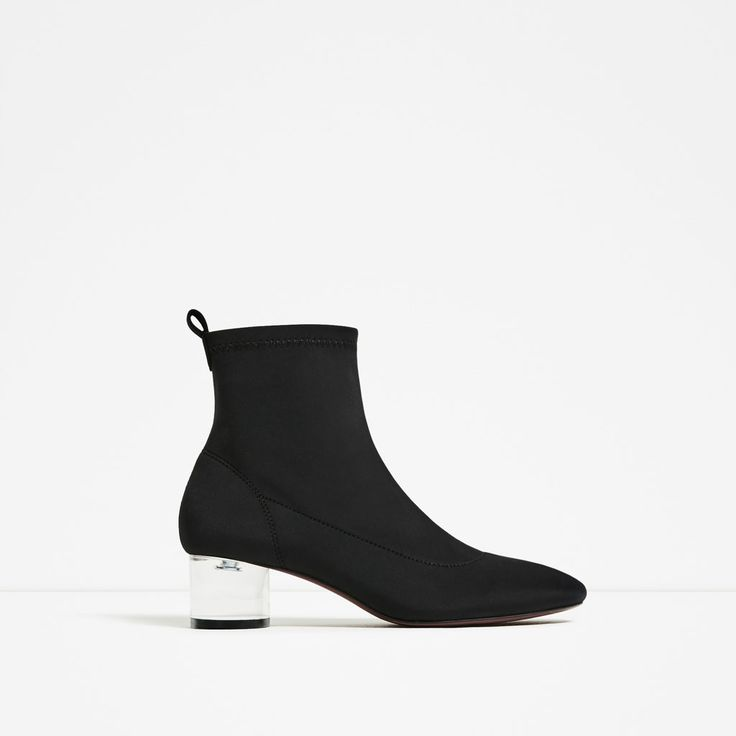 ZARA - TRF - ANKLE BOOTS WITH METHACRYLATE HEEL