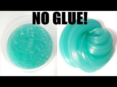 DIY How To Make Fluffy Slime With Glue Sticks And Shaving Gel Without Borax,Liquid Starch or Shampoo - YouTube