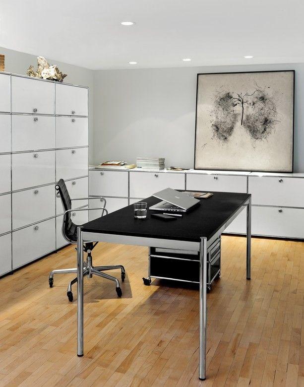 USM Haller Tisch 150x75 - schwarz