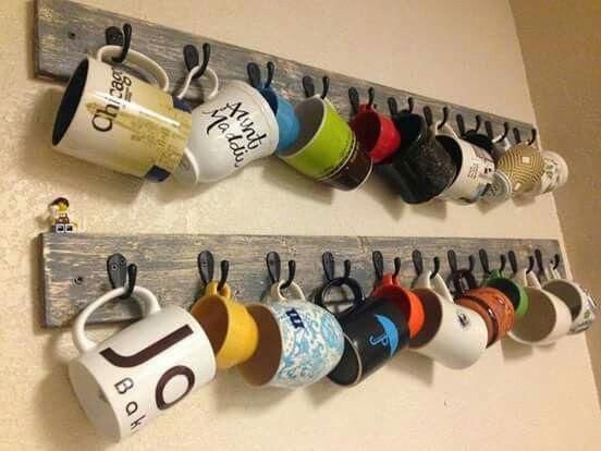 Porta canecas para decorar
