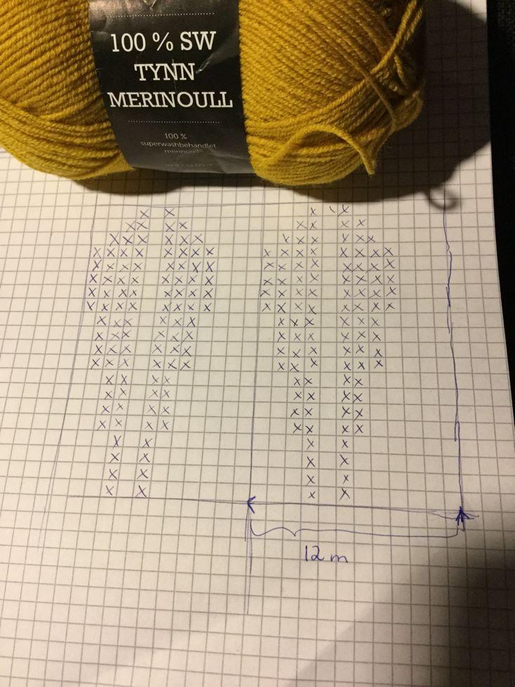 Strikket pannebånd m lotus motiv. Har tegnet diagram, hvis noen ønsker å lage. Jeg la opp 120 m på pinne 3, og strikket 6 omg 1rett,1vrang ...