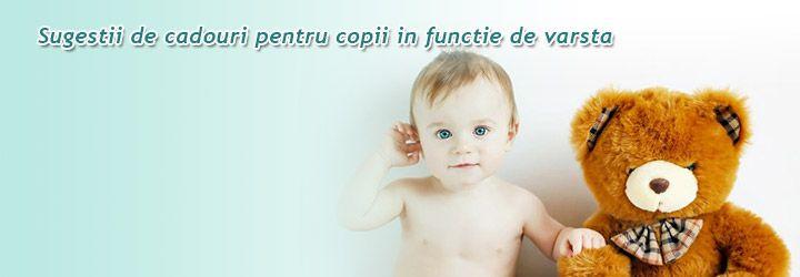 Sugestii de cadouri pentru copii http://clubulbebelusilor.ro/articol/1328/sugestii-de-cadouri-pentru-copii-in-functie-de-varsta.html