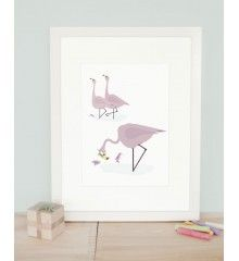 Poster Flamingo, made by norsuStories, available at Printed Stories.