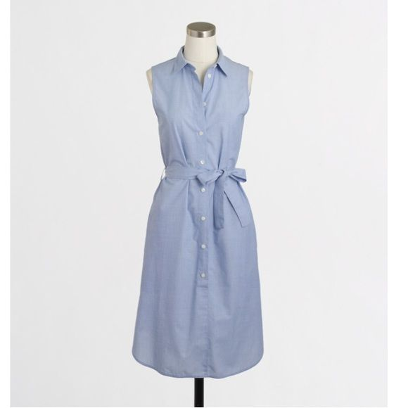 Hp Factory Chambray Shirt Dress Belt The O