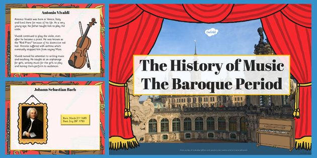 History Of Music: The Baroque Period And Composers PowerPoint
