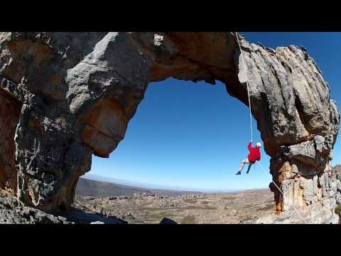 Abseiling down Wolfberg Arch.  @Funholidays #abseiling #WolfbergArch #holiday