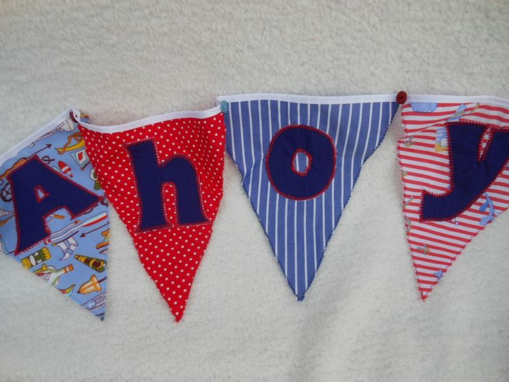 """Nautical theme with the word - """"Ahoy"""""""