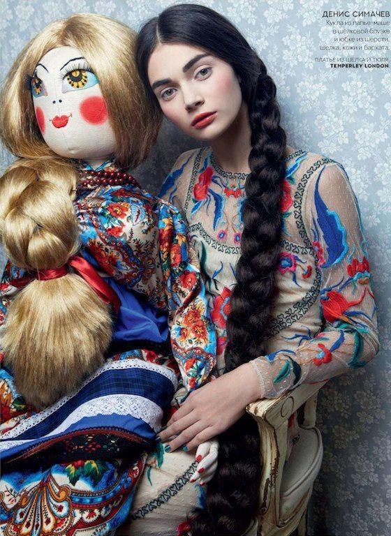 Temperley London Fall 2012: Russian Folk Florals, Piano Shawls, and Renaissance Prints