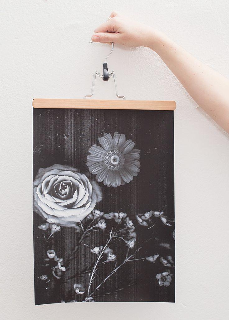 DIY-Anleitung: Scan von frischen Blumen ausdrucken und aufhängen via DaWanda.com