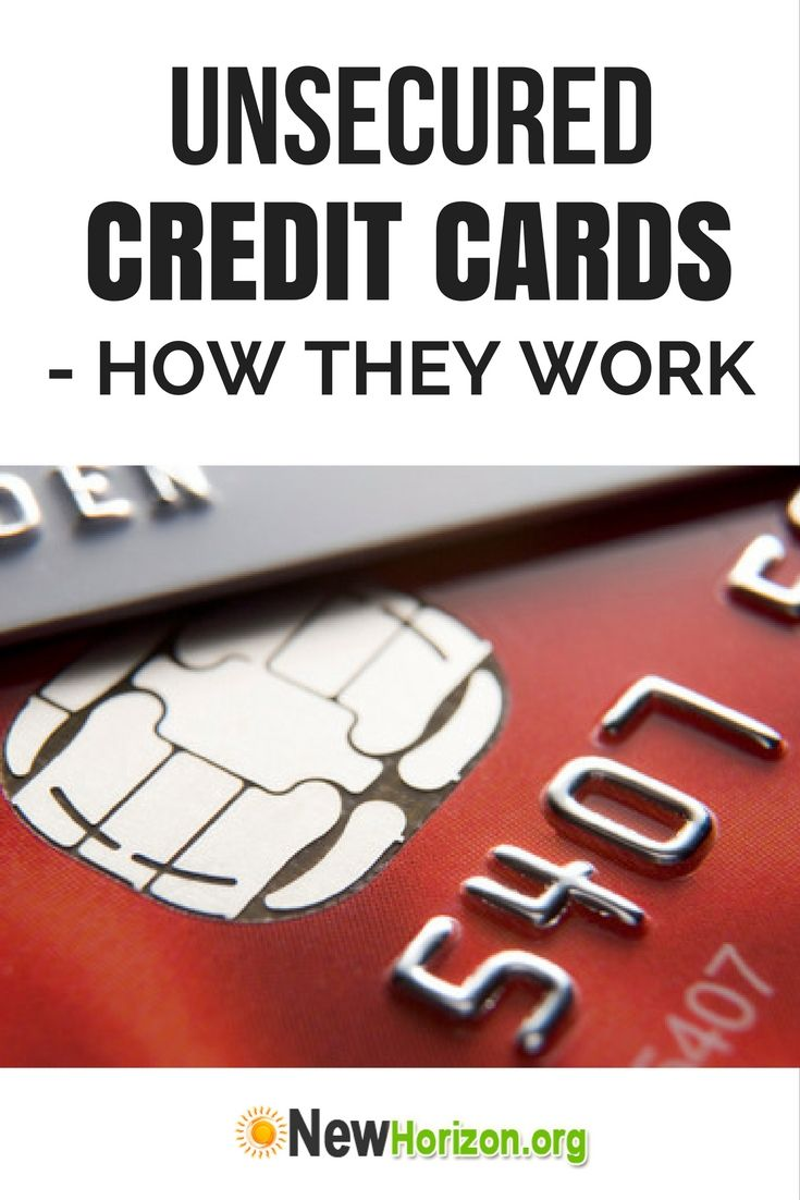 unsecured credit cards meaning