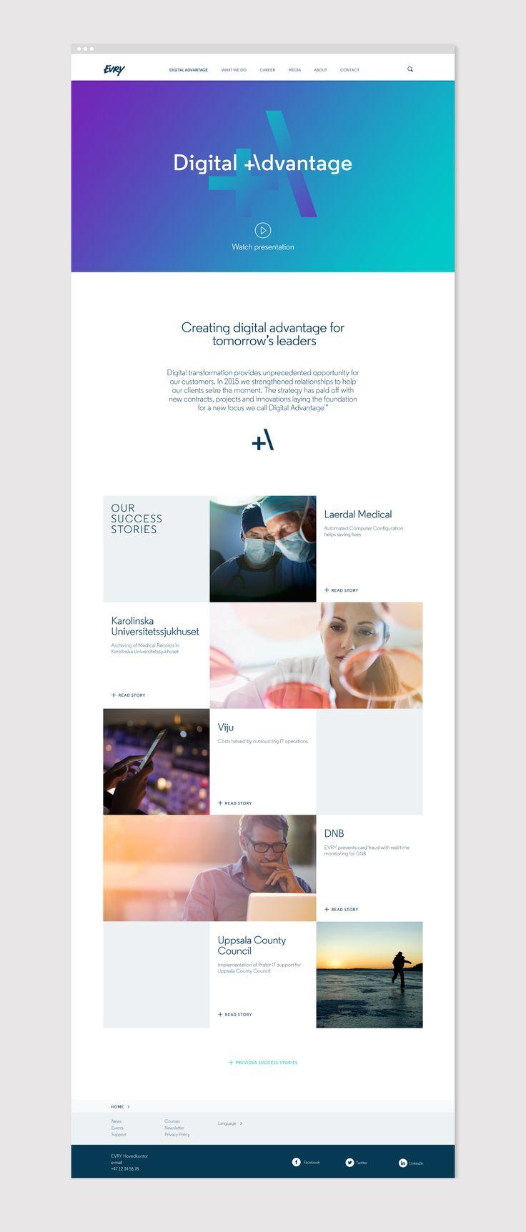 EVRY - Web designed by Mission