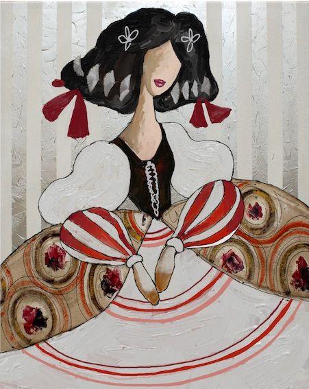CUADRO MENINA (BACB257) Cuadro de #menina#plata#moderna#cuadro#pintura#arte#cuadros#modernos