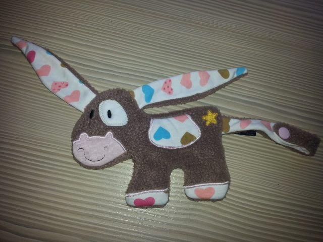 Schnullertier/ Schnuffeltuch Esel