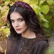"""Купить Ободок """"Золотые лепестки"""" - пепел розы, пыльная роза, ободок, ободок с цветами"""