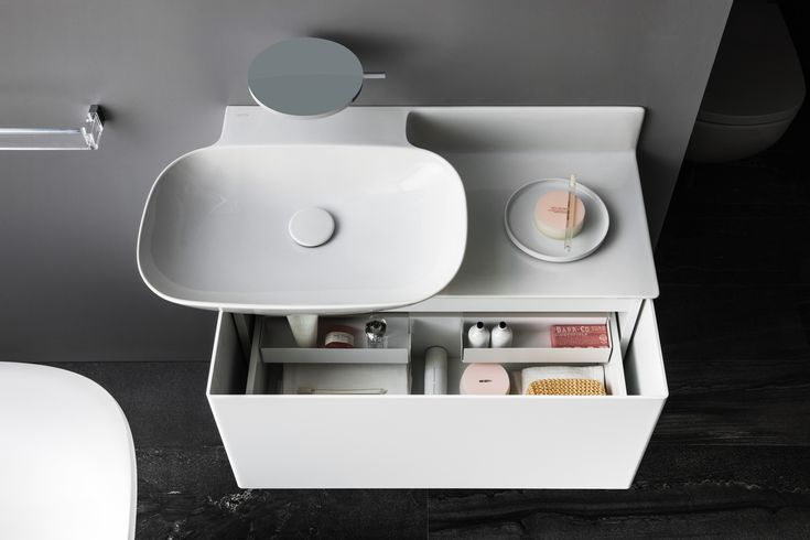 Everything has it's place stored away in the drawer of the new INO products . Read more: http://www.ish.laufen.com/LAUFEN_ISH_EN/en_eng/sa_ish/sa_products/