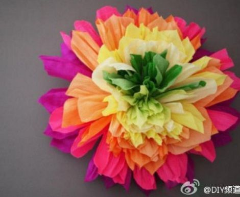 flores de papel crep tutorial x