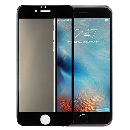 DIKOO iPhone 6S Plus 6 Plus Full Cover Tempered Glass Screen Protector, Ultra Slim 0.2mm Privacy Anti-Fingerprint Glass Screen Protector for iPhone 6 Plus 6S Plus (Privacy 5.5) *** Click on the image for additional details.