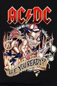 Ac/Dc Are You Ready T Shirt  Xl New Mint Rare , Razors Edge Promo T Shirt  | eBay