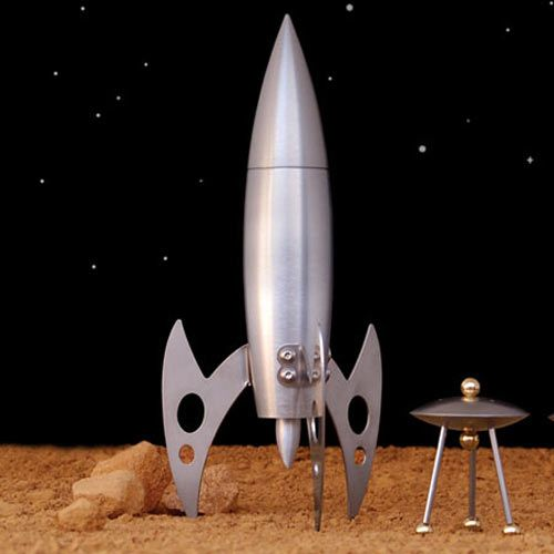 Awesome retro rocket and UFO