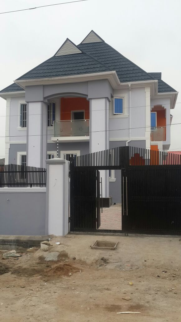 Newly Built 4 bedrooms detached house with BQ at Labak Estate, New Oko Oba  #realestate #property #house #forsale #Agege #Lagos #Nigeria
