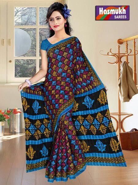 Buy Hasmukh Doriya Cotton Saree Online at Best price in India