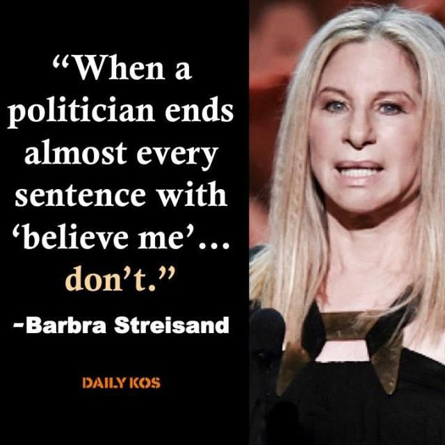 Funny Quotes About Donald Trump by Comedians and Celebrities: Barbra Streisand on Trump