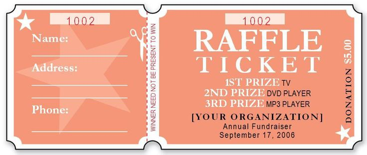 raffle ticket template Sample Raffle Ticket Templates | Formal Word Templates #sampleResume #FreeResume