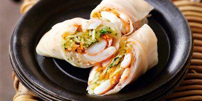 Prawn & green papaya rice paper rolls recipe - 9Kitchen