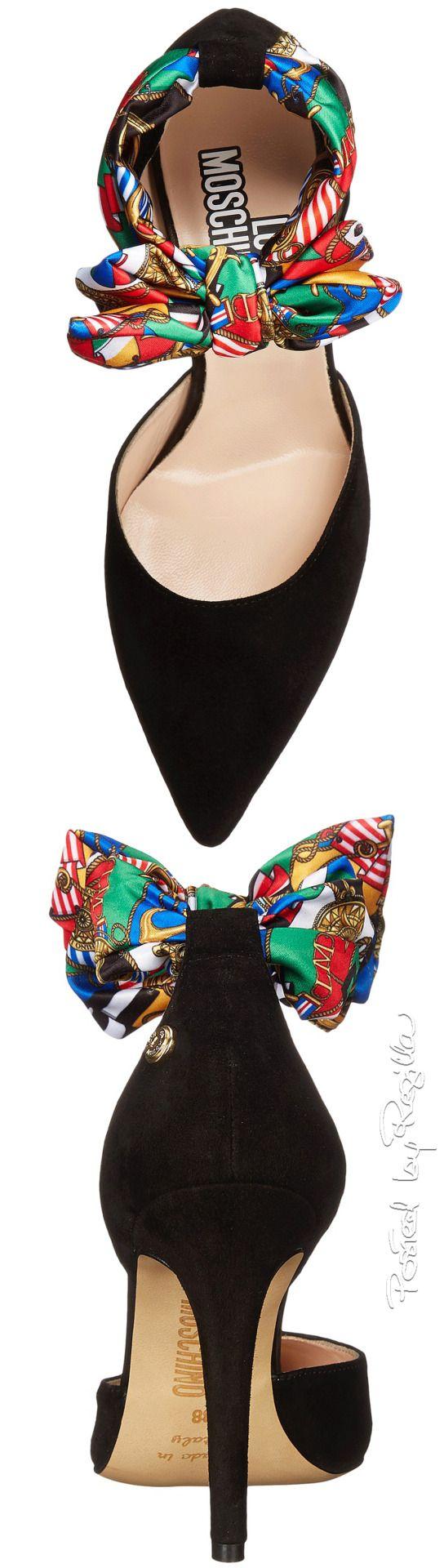 LUXURY BRANDS | Moschino black shoes with silk | www.bocadolobo.com #luxurybrands