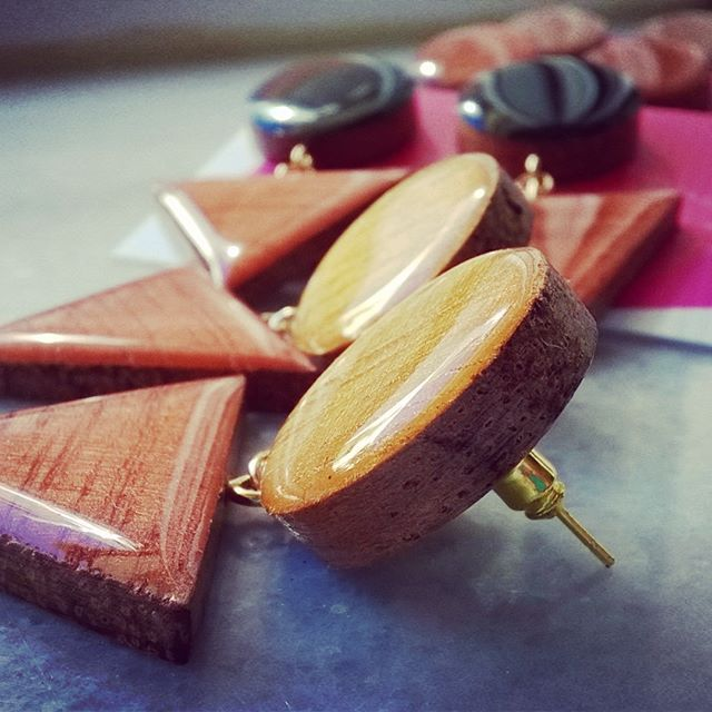 #shewoods #handmade #wooden #jewellery #handpainted #resin #earrings #resinjewelry #greece2017 #summer2017 #shewoods