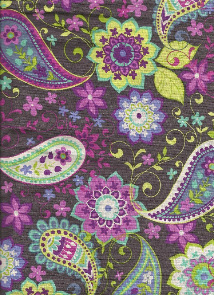 Purple Teal Yellow Fabric Want To Make A Dress Out Of