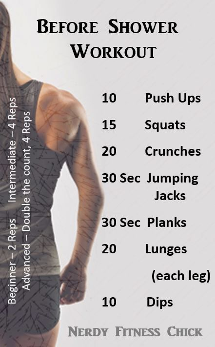Before Shower Workout Routine