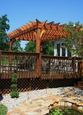Asian Style Pergola Garden Yard Pinterest