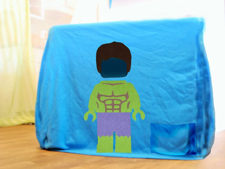 Lego Hulk cutout in a kids fort. Buy online https://www.etsy.com/listing/220621405/kids-fort-interactive-lego-fort-adjusts?ref=related-0