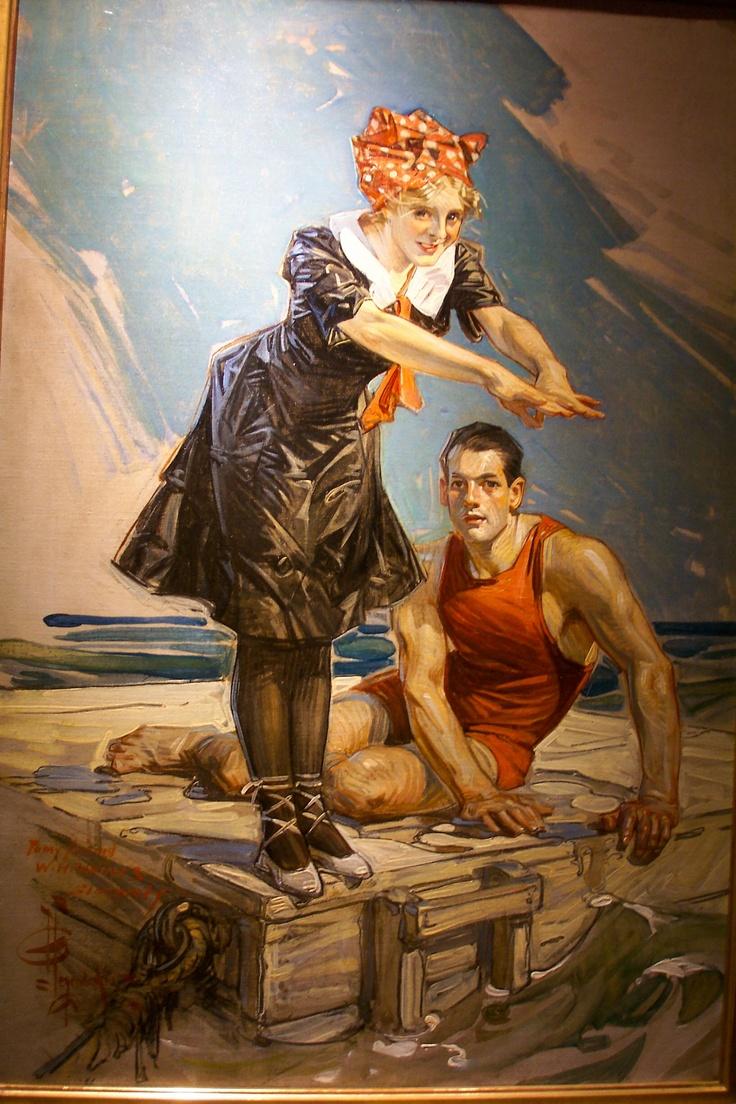 J.C. Leyendecker, original oil painting, illustration art for Popular Magazine cover art.