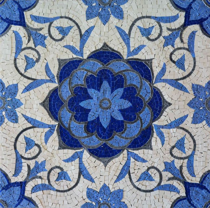 Beautiful Geometric Design - Marble Mosaic Tiles with Floral Patterns from Mozaico   Perfect to be hanged or inserted into your floors - Where would you install it ?