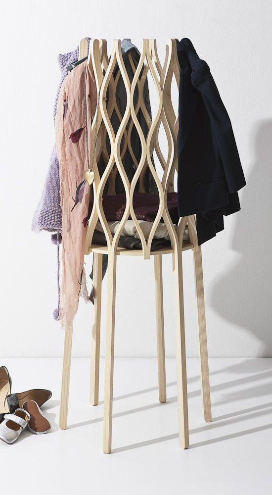 Nouvelle Vague - Designer Lisa Hilland, clothes hanger and basket in one.