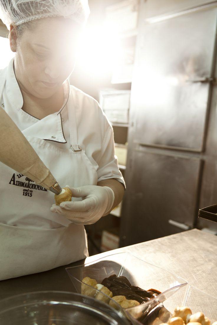 profiterol Afoi Asimakopouloi patisserie / bakery Athens , Exarcheia http://asimakopouloi.com/