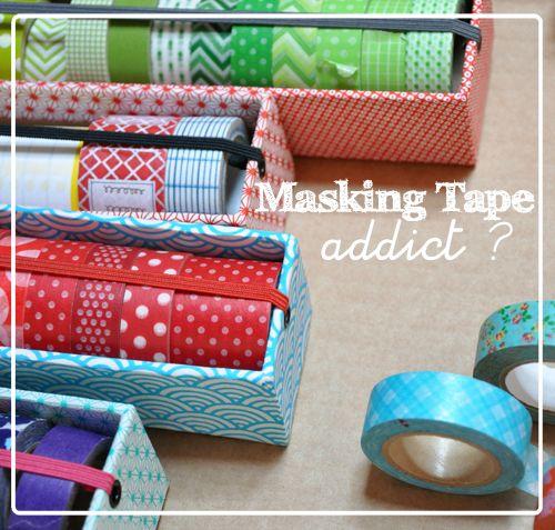 Idea para organizar masking tapes