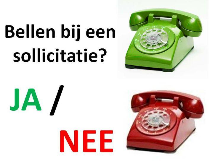 Het blijkt dat 10% van de sollicitanten belt naar aanleiding van een vacature; doe uw voordeel hiermee!  www.elsdrost.nl
