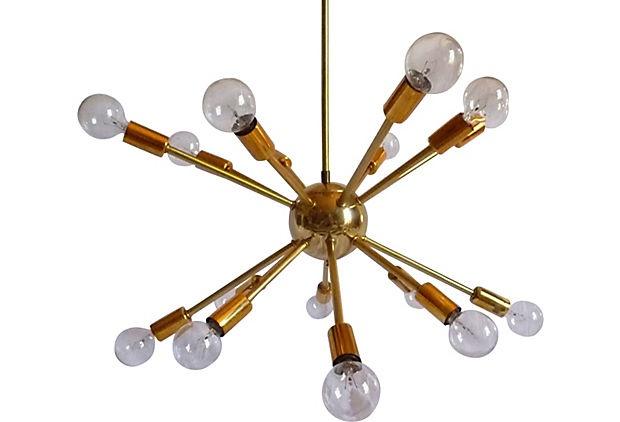 1960s Sputnik Ceiling Fixture On Reminds