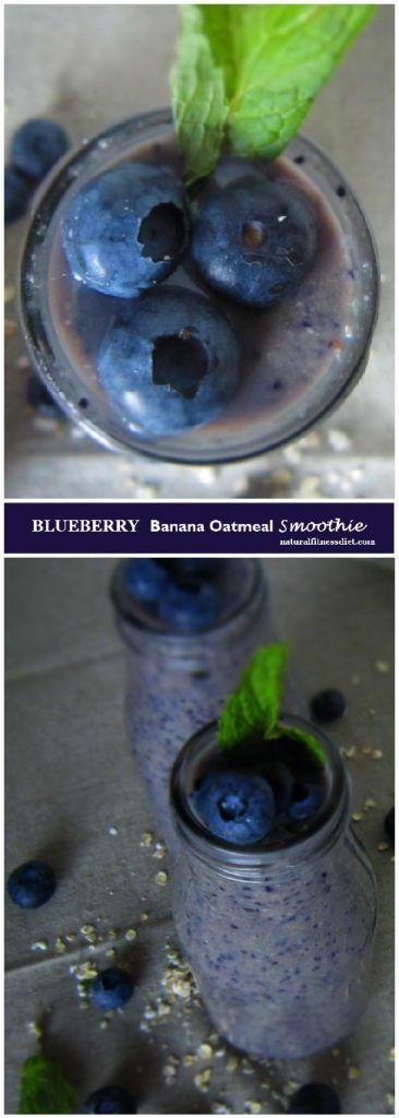 Blueberry Banana Oatmeal Smoothie #healthy #almonds #blueberry #oatmeal…