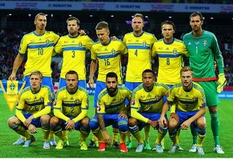 Sweden has a talented soccer team, which helps to make soccer one of Sweden's most popular sports. This photo shows the team this year. Their coach's name is Erik Hamren. Swedish Soccer also has a good history, going to there first world cup in 1934. They also got a gold medal in the 1948 Olympics.