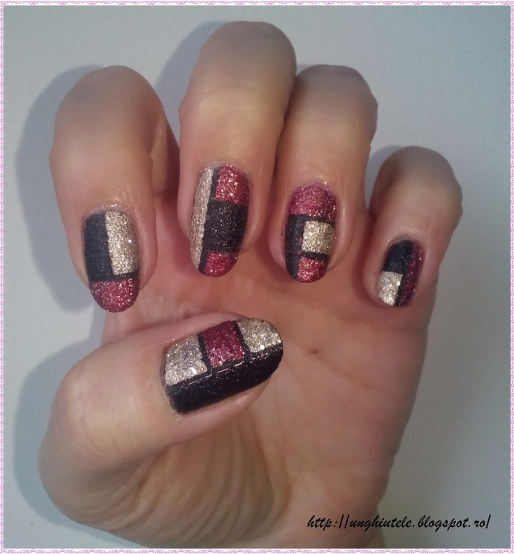 Nailpolis Museum of Nail Art | Color Block by Oana  Alexandru #nails #nailart #manicure